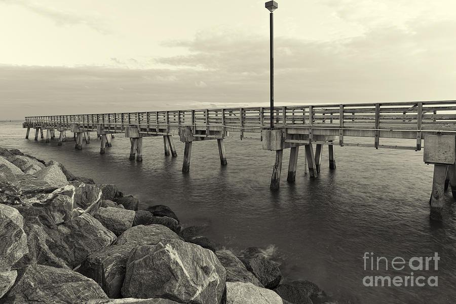 South Pointe Park Photograph - South Pointe Bridge In Sephia by Eyzen M Kim