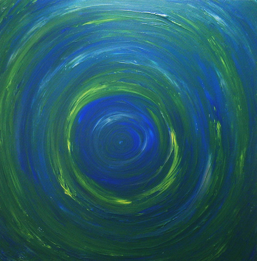 Abstract Painting - South Pole Of Saturn by Drew Shourd