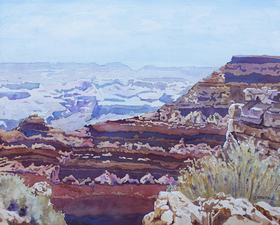 Grand Canyon Painting - South Rim Color by Jenny Armitage