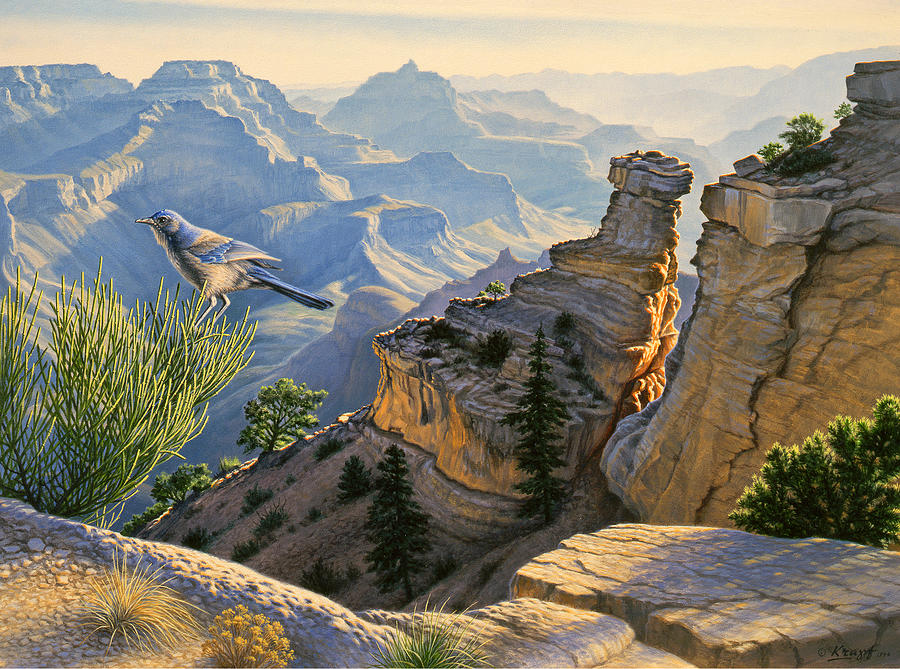 Landscape Painting - South Rim Morning by Paul Krapf