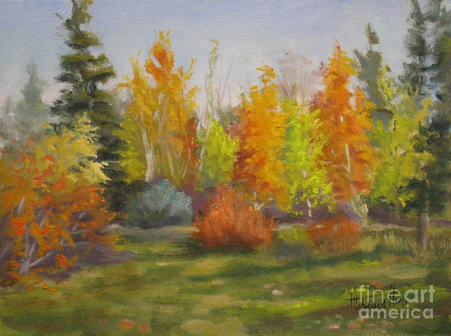Autumn Painting - South Sask. Dr. Park by Mohamed Hirji