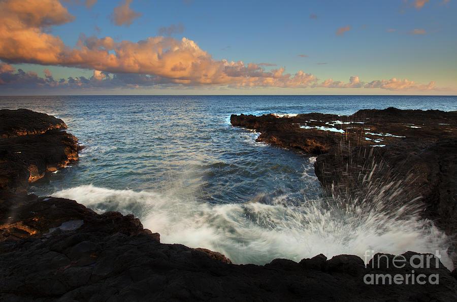 Kauai Photograph - South Shore Spray by Mike  Dawson