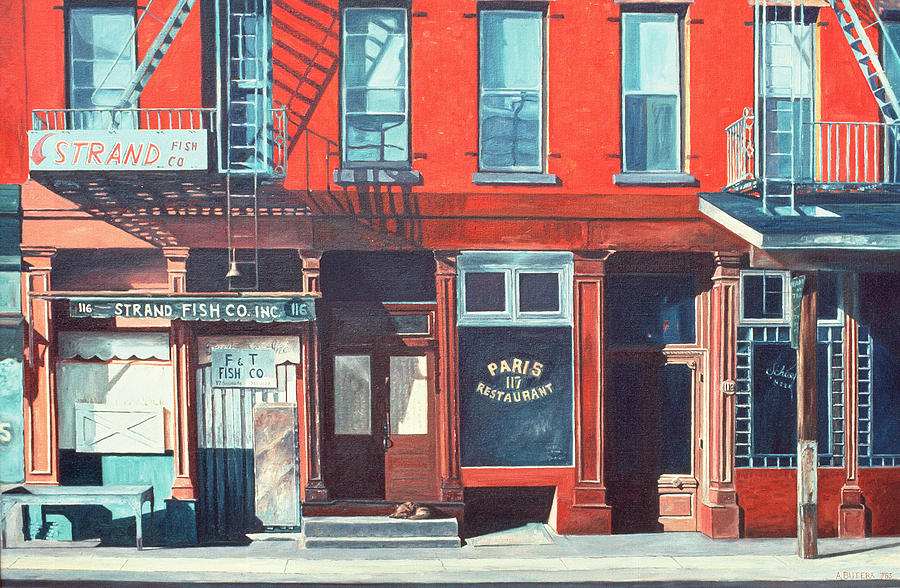 Fire Escapes Painting - South Street by Anthony Butera