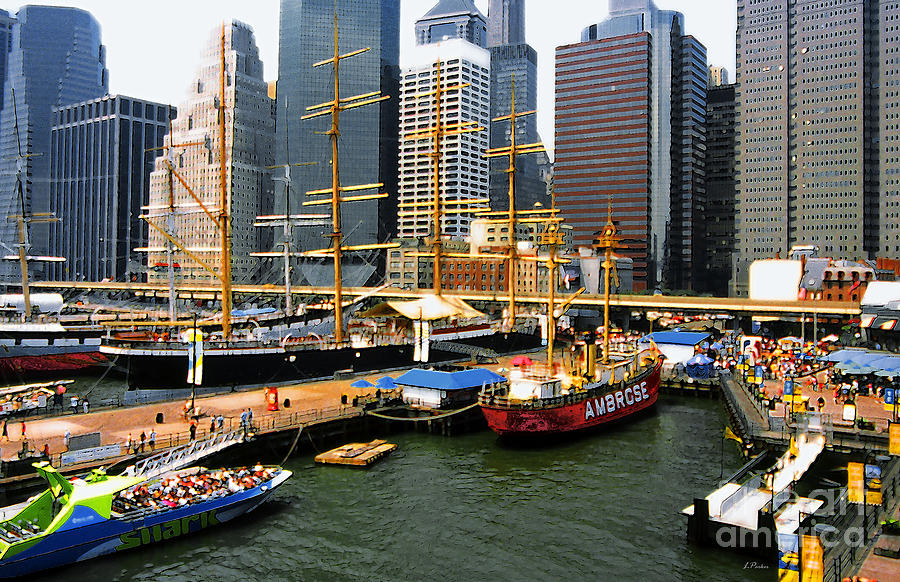Port Photograph - South Street Seaport -nyc by Linda  Parker