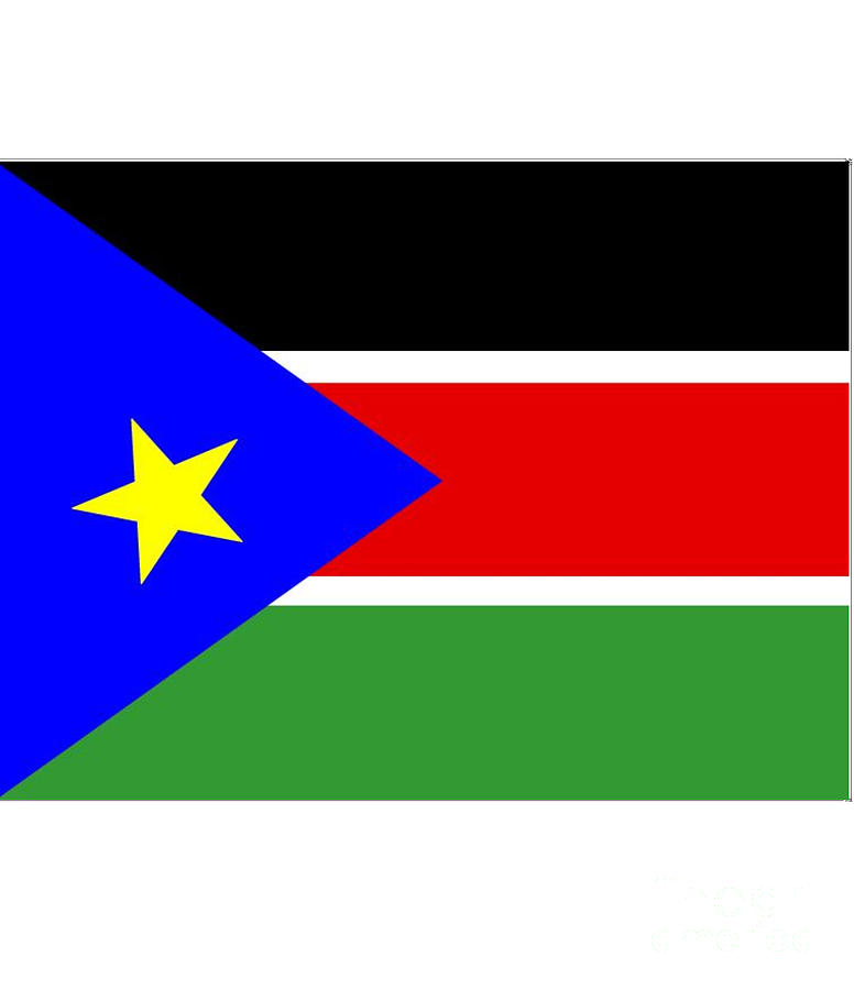 South Digital Art - South Sudan Flag by Frederick Holiday