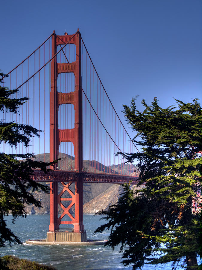 Golden Gate Bridge Photograph - South Tower by Bill Gallagher