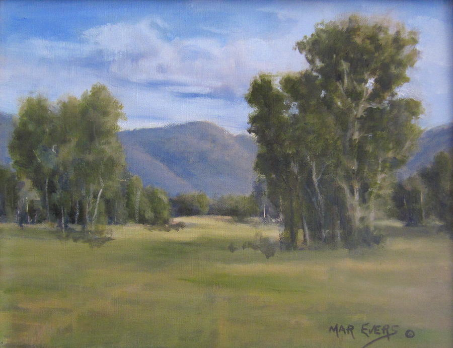 Trees Painting - South Valley by Mar Evers
