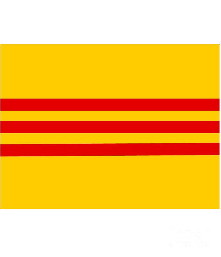 South Digital Art - South Vietnam Flag by Frederick Holiday