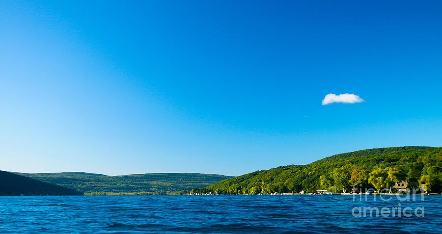 Canandaigua Lake Photograph - South View Of Canandaigua Lake by Steve Clough