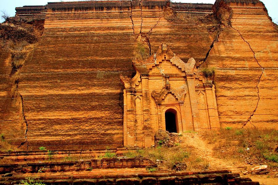 South Wall Of Mingun Pagoda Photograph by Jim Simmen