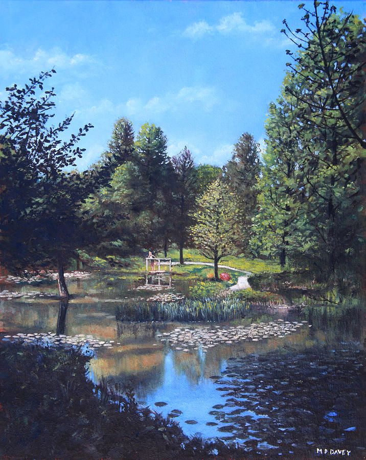 Garden Painting - Southampton Hillier Gardens Late Summer by Martin Davey