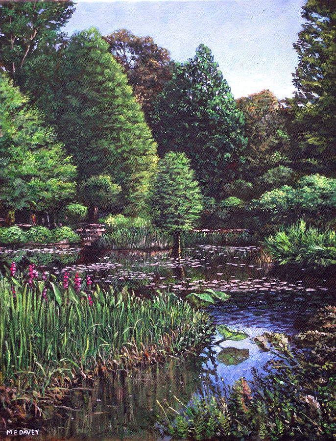 Garden Painting - Southampton Hillier Gardens by Martin Davey