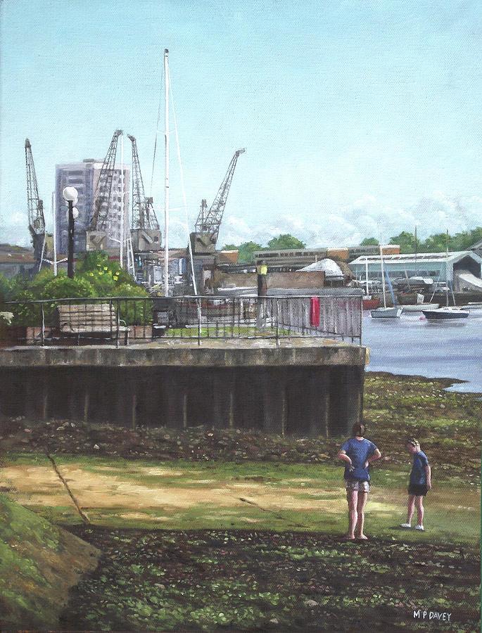 Southampton Painting - Southampton River Itchen Chapel Tredegar Wharf by Martin Davey