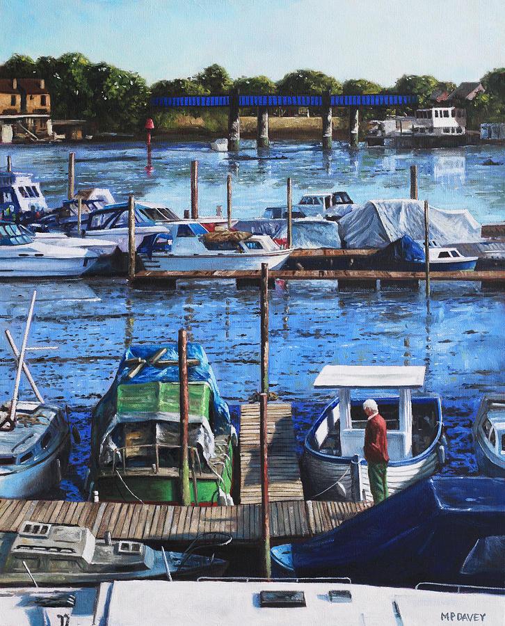 Southampton Painting - Southampton River Itchen From Cobden Bridge by Martin Davey