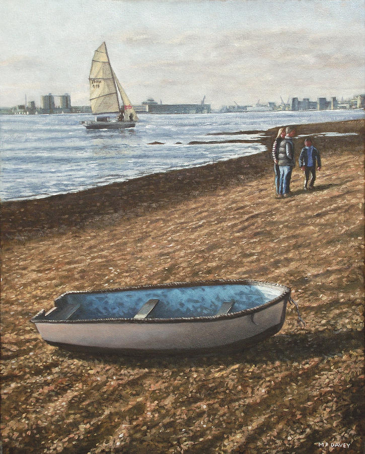 Southampton Painting - Southampton Weston Shore by Martin Davey