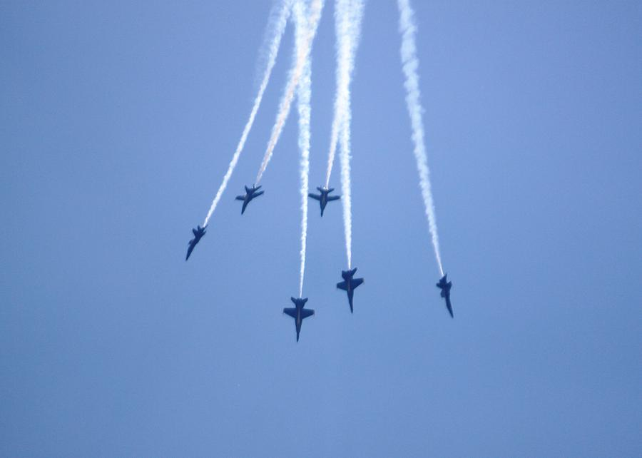 Blue Angels Photograph - Southbound Blue Angels by French Toast