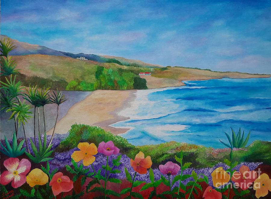 Southern California Scenic Coast And Wild Poppies Original