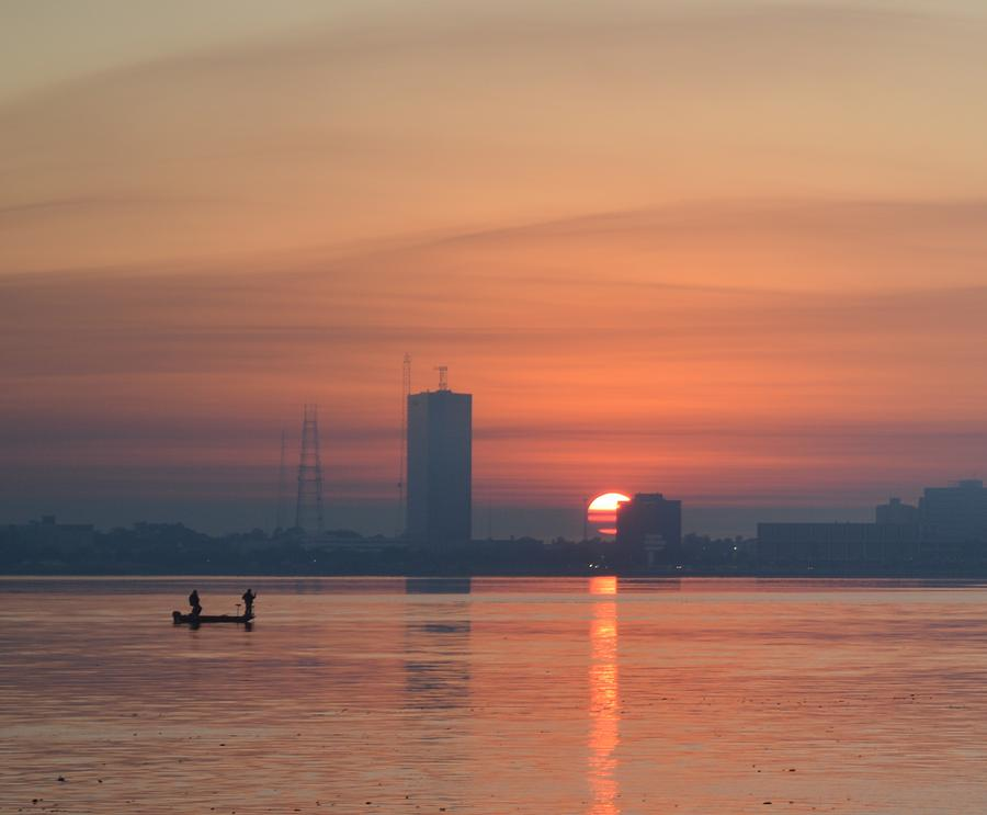 Sunrise Photograph - Southern City Sunrise by Eileen Corbel