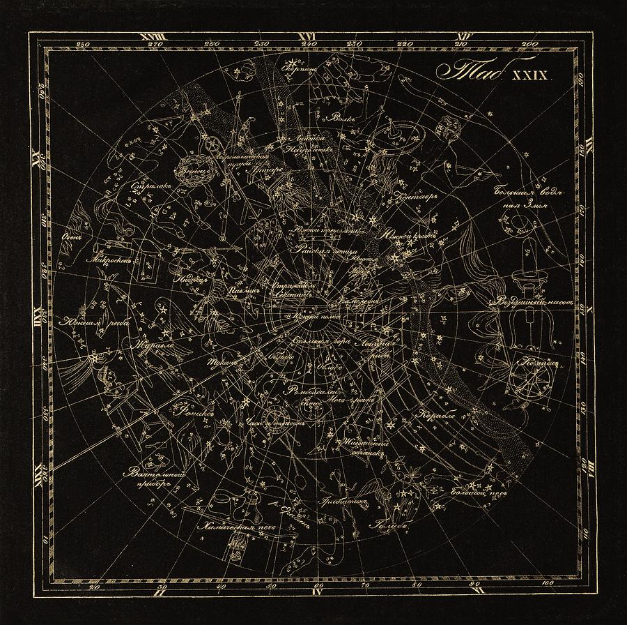 Star Photograph - Southern Constellations, 1829 by Science Photo Library