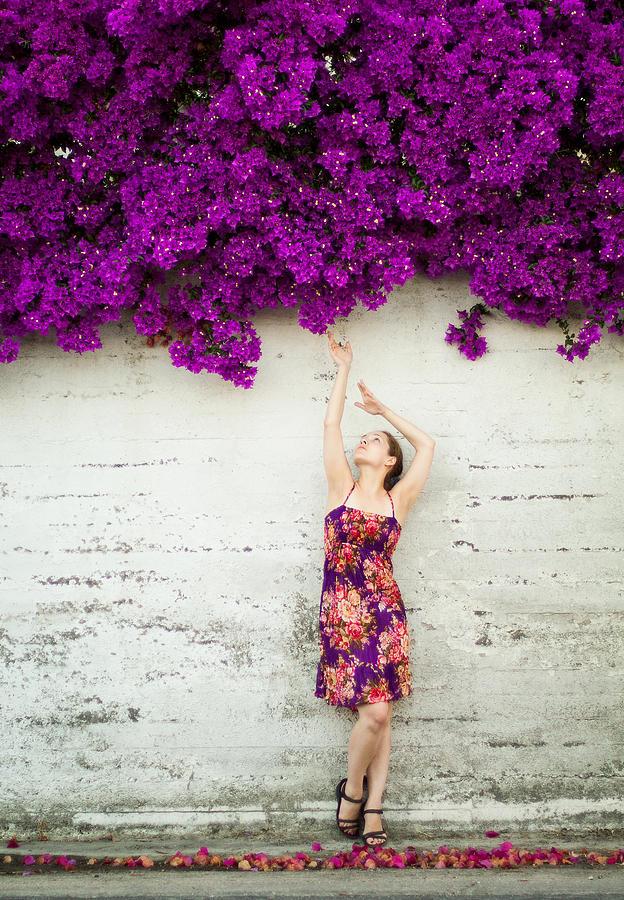 Violet Photograph - Southern Flowers by Viacheslav Savitskiy