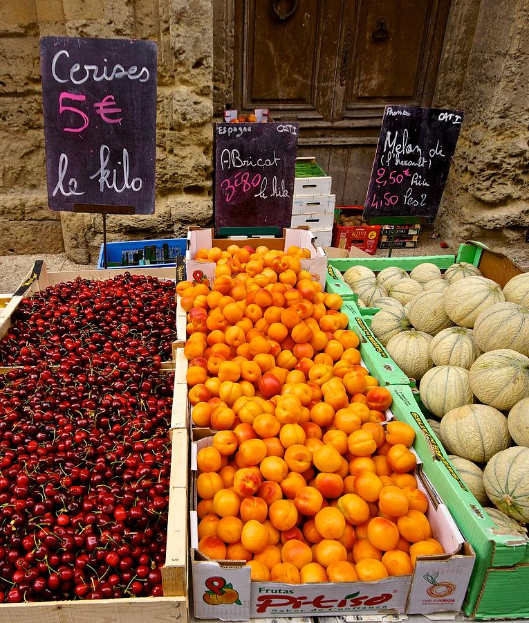 Southern France Produce Market Photograph