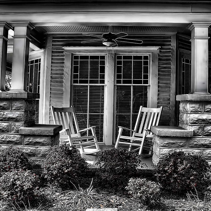 Southern Photograph - Southern Front Porch 2 by Sherry Bowen