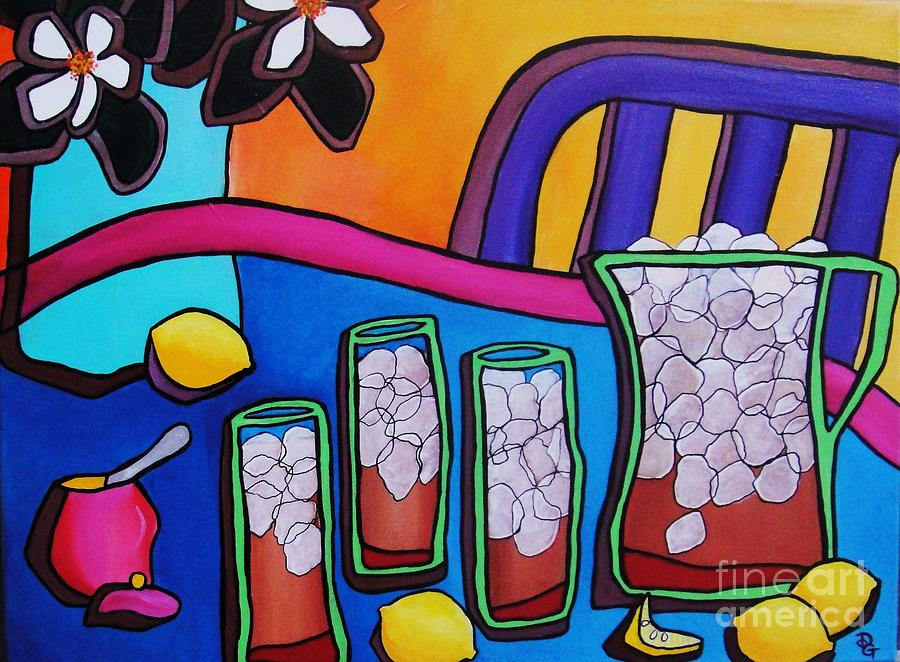 Iced Tea Painting - Southern Iced Tea by Deborah Glasgow