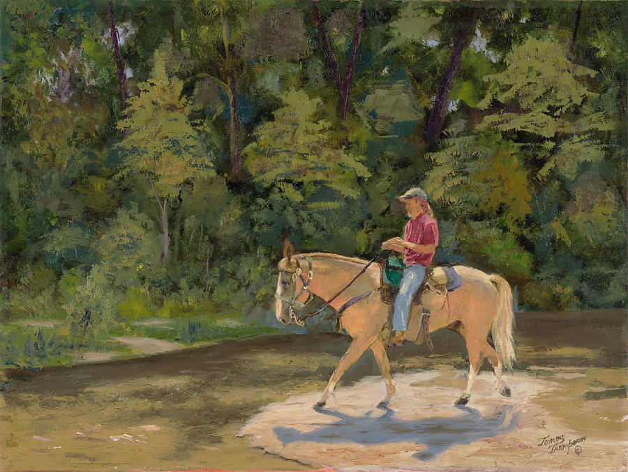 Horses Painting - Southern Light by Tommy Thompson