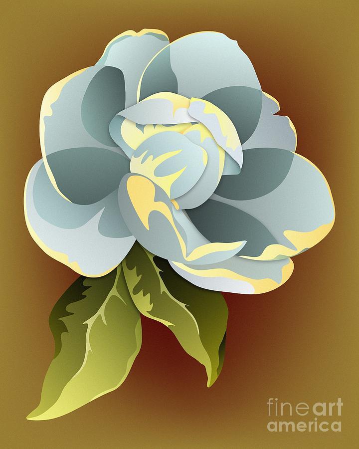 Magnolia Digital Art - Southern Magnolia Blossom by MM Anderson
