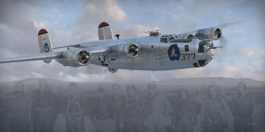 B-24 Digital Art - Southern Sarah by Robert Perry