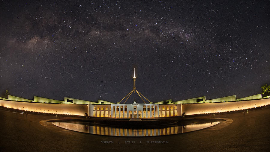 Canberra Photograph - Southern Sky Parliament House  by Andrew Prince