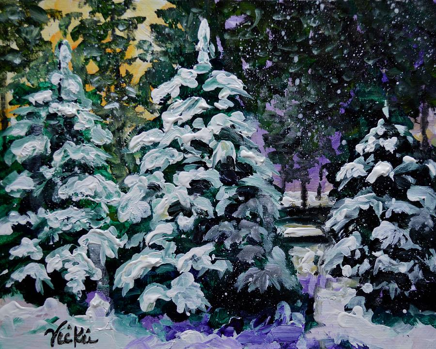 Snow Painting - Southern Surprise by Vickie Warner