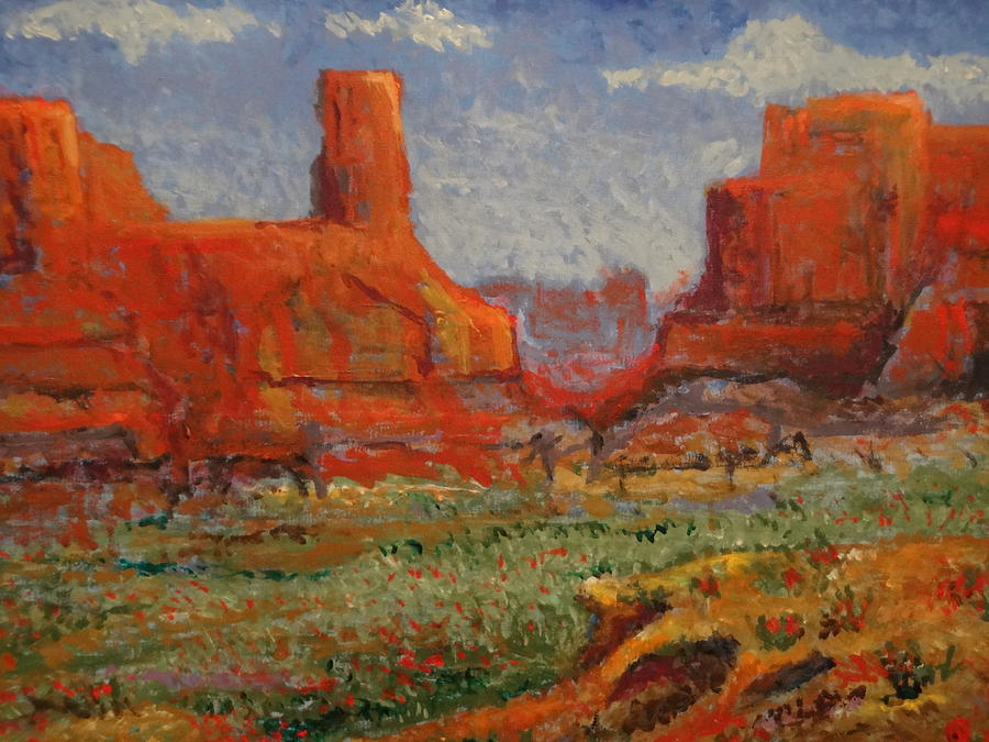 Impressionism Painting - Southern Utah In The Spring by Paul Benson