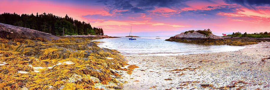 Pano Photograph - Southport  Maine by Emmanuel Panagiotakis