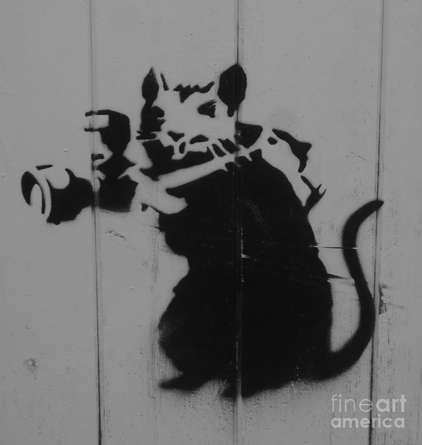 Graffiti Photograph - Southport Mouse by C Lythgo