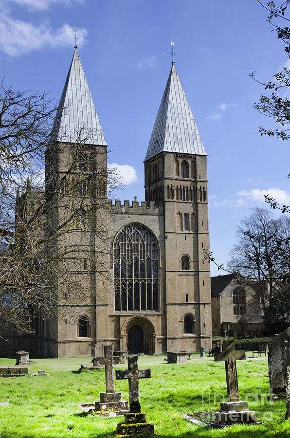 Southwell Minster Photograph - Southwell Minster church yard by Steev Stamford