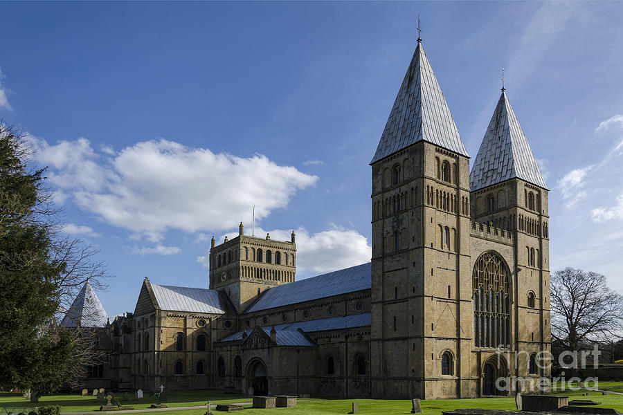 Southwell Minster Photograph - Southwell Minster - north west by Steev Stamford
