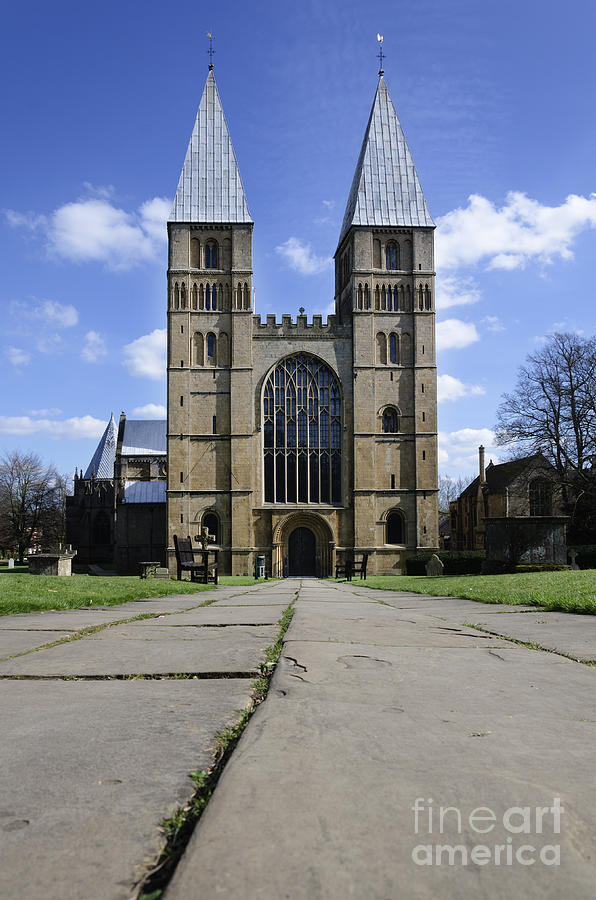Southwell Minster Photograph - Southwell Minster - road to salvation by Steev Stamford