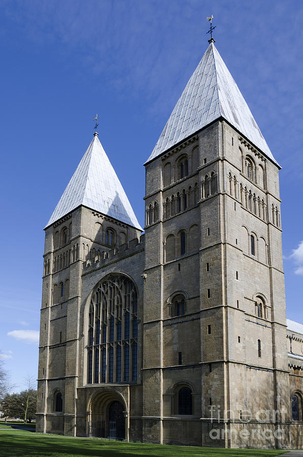 Southwell Minster Photograph - Southwell Minster - south west by Steev Stamford