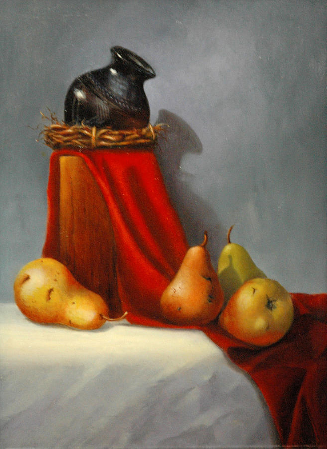 Pears Painting - Southwest Banquet by Rich Kuhn