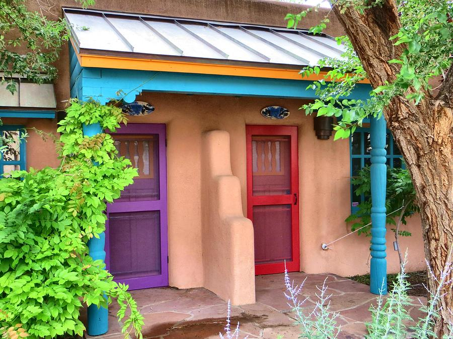 Adobe Photograph - Southwest Doors Pastels by Jim Romo & Southwest Doors Pastels Photograph by Jim Romo