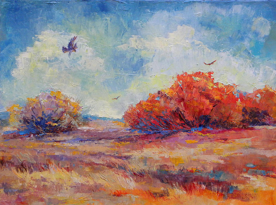 Southwest Painting - Southwest Landscape by Peggy Wilson