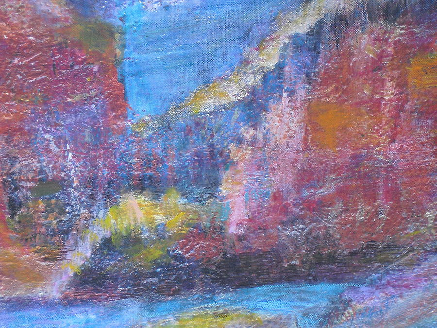 Impressionistic Painting - Southwestern Mesa Memories by Anne-Elizabeth Whiteway