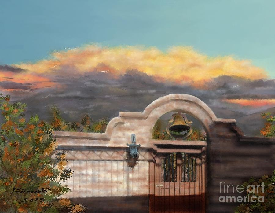 Monsoon Clouds Painting - Southwestern Monsoon Sunset by Judy Filarecki
