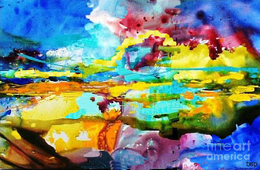 Abstract Painting - Southwestern Sunset by Robert Stagemyer