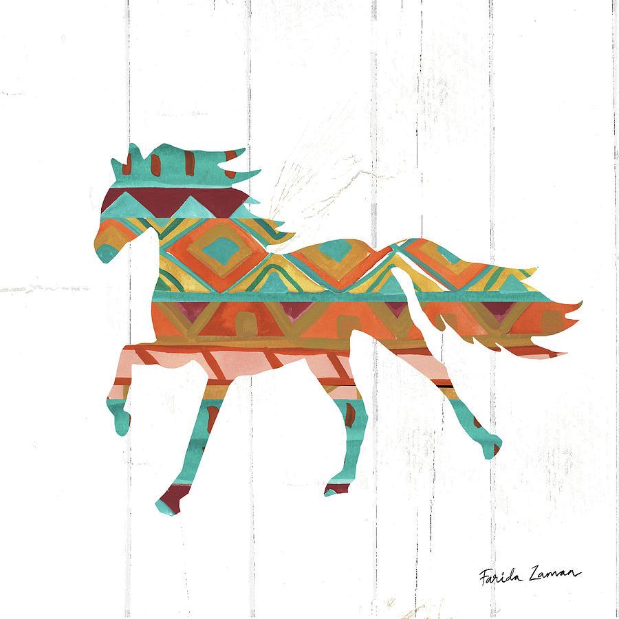 Animals Painting - Southwestern Vibes Iv by Farida Zaman