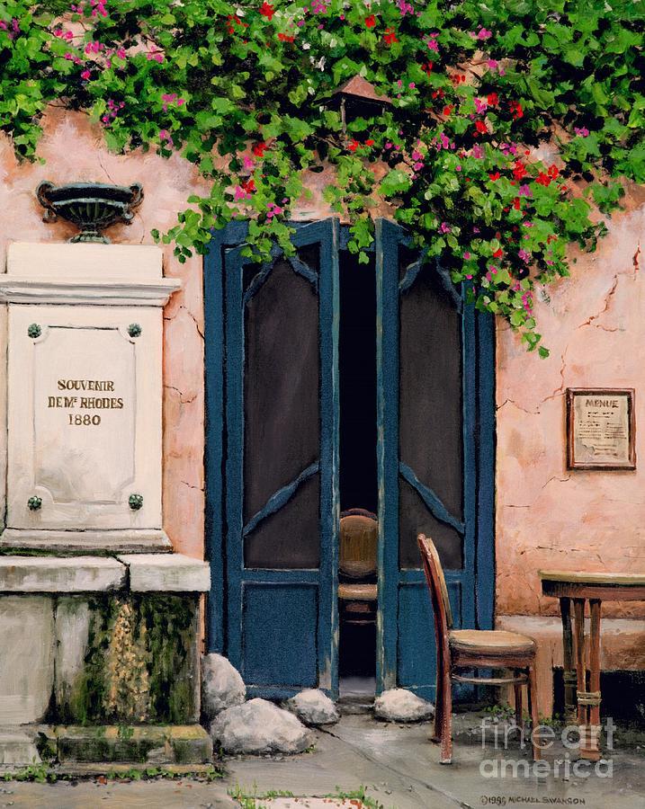 French Cafe Painting - Souvenir De Mr. Rhodes by Michael Swanson