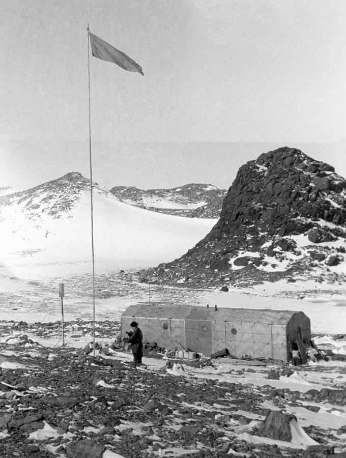 Antarctic Photograph - Soviet oasis Antarctic Station, 1958 by Science Photo Library