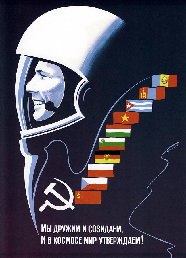 Color Image Photograph - Soviet Space Poster Of Cosmonaut Yuri by John Parrot