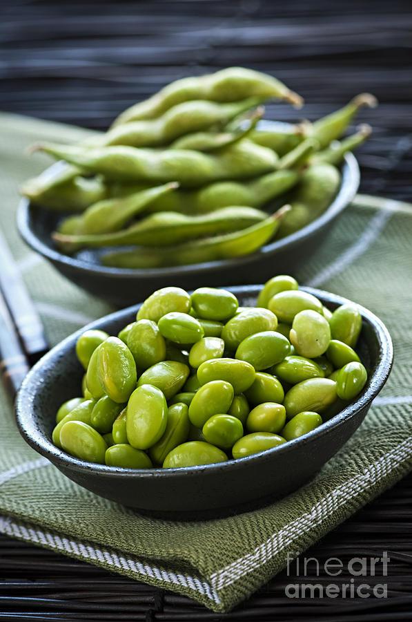 Edamame Photograph - Soy Beans  by Elena Elisseeva
